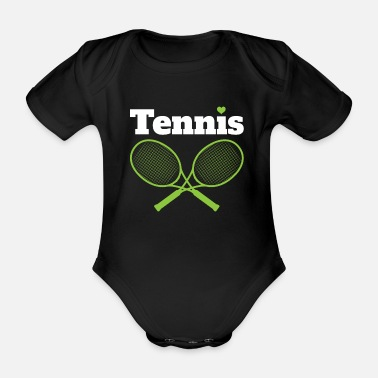 Without Game Set Match - tennis gift idea Tenis - Organic Short-Sleeved Baby Bodysuit