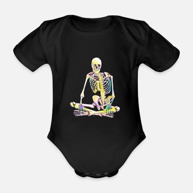 Skeletons skeleton - Organic Short-Sleeved Baby Bodysuit