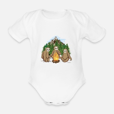 Couch Mycologists hiking club may come we - Organic Short-Sleeved Baby Bodysuit