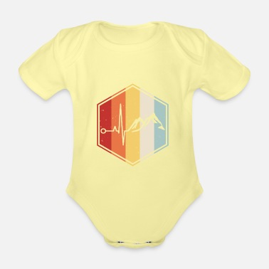 Aunt Hiking mountaineer mountains heartbeat climbing - Organic Short-Sleeved Baby Bodysuit