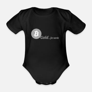Bitcoin, gold for nerds. Gray version. - Organic Short-sleeved Baby Bodysuit