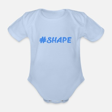 Shape #shape - Organic Short-Sleeved Baby Bodysuit