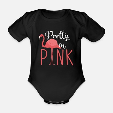 Typografie Flamingo - Pretty in Pink - Baby Bio Kurzarmbody
