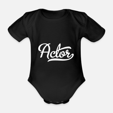 Actor actor - Organic Short-Sleeved Baby Bodysuit