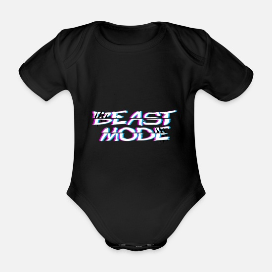 Single Baby Clothes - Beast Fashion Cut - Organic Short-Sleeved Baby Bodysuit black
