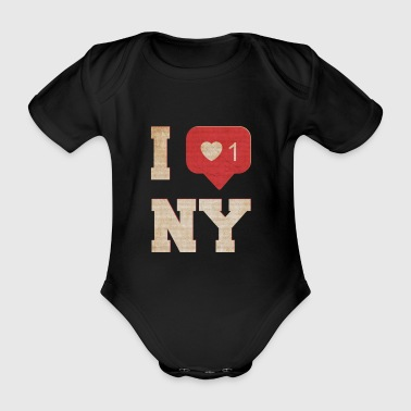 I Love New York I Love New York - Body ecologico per neonato a manica corta