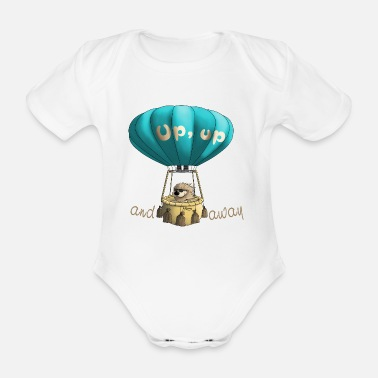 Away Up and away - up and away - Organic Short-Sleeved Baby Bodysuit