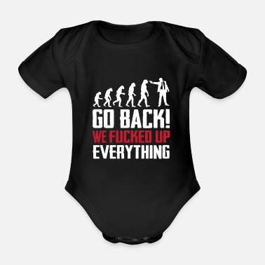 Evolution evolution - Organic Short-sleeved Baby Bodysuit