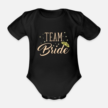 Bride bride - Organic Short-Sleeved Baby Bodysuit