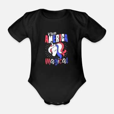 Magic The Gathering Unification America Fourth July Keep America Magical - Organic Short-sleeved Baby Bodysuit