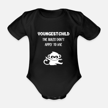 Youngest Child T-Shirt & Gift Youngest Child - Organic Short-Sleeved Baby Bodysuit