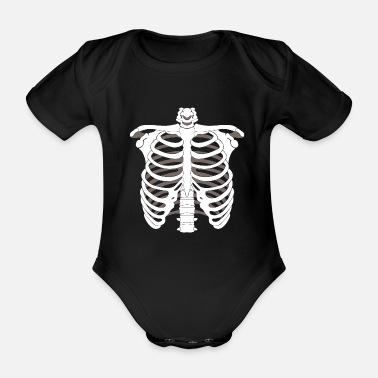 Skeletons Skeleton skeleton Halloween bone skeleton skeleton - Organic Short-Sleeved Baby Bodysuit