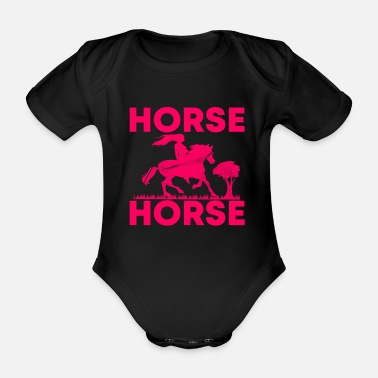 Horse Fan horse riding - Organic Short-Sleeved Baby Bodysuit