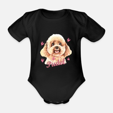 Companion Dog Poodle dog companion dog gift idea - Organic Short-Sleeved Baby Bodysuit