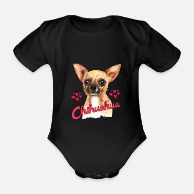 Companion Dog Chihuahua dog companion dog gift idea - Organic Short-Sleeved Baby Bodysuit