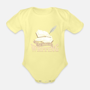 Writing Write - Organic Short-Sleeved Baby Bodysuit