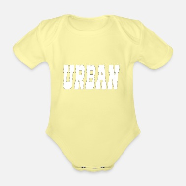 Urban urban - Organic Short-Sleeved Baby Bodysuit