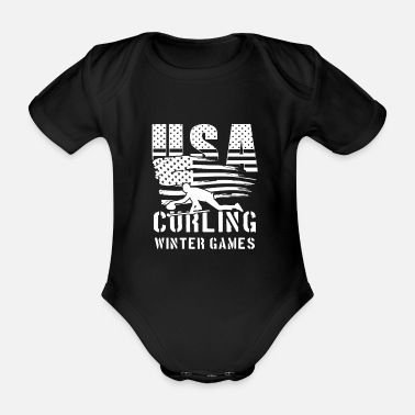 Team Usa USA Curling Winter Games - world team sport - Body bébé bio manches courtes