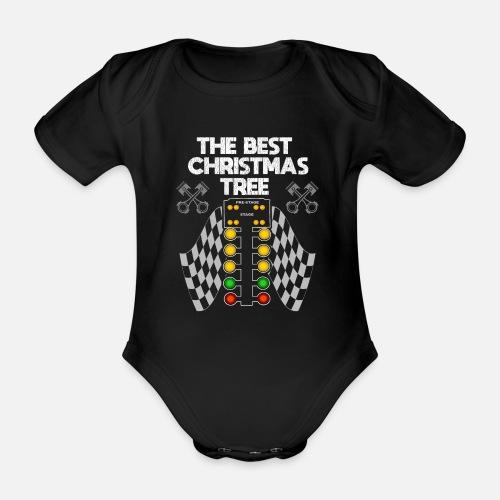Drag Racing Funny Design Der Beste Weihnachtsbaum Baby Kurzarmbody