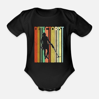 Treasure Metal Detecting Retro Design - Detectorist - Organic Short-sleeved Baby Bodysuit