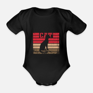 Domestic Cat Cat domestic cat - Organic Short-Sleeved Baby Bodysuit