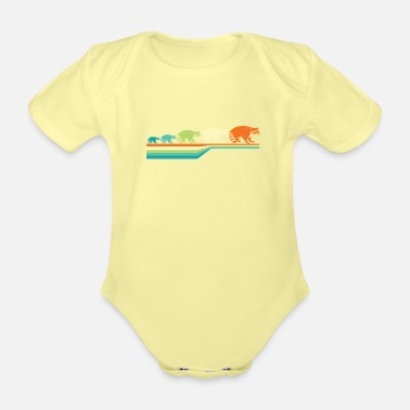 Mammal Raccoon mammal - Organic Short-Sleeved Baby Bodysuit