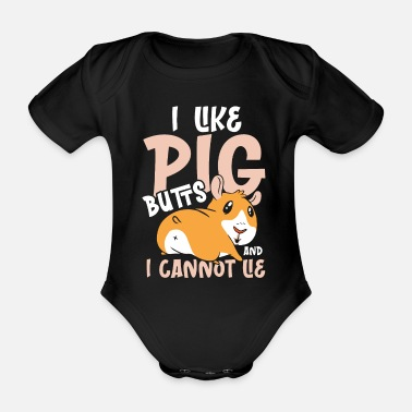 Plasters I like pig butts and I cannot lie - Organic Short-Sleeved Baby Bodysuit