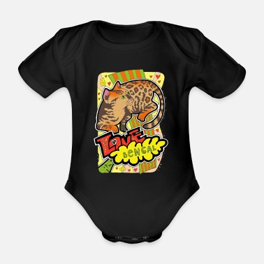 Catmom Love funny cats. Bengal. C 8 - Organic Short-Sleeved Baby Bodysuit