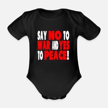 No War Peace and No War - Vauvan lyhythihainen body