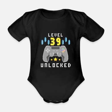 Video Level 39 Unlocked - 39th Birthday Gift Design - Body ecologico per neonato a manica corta