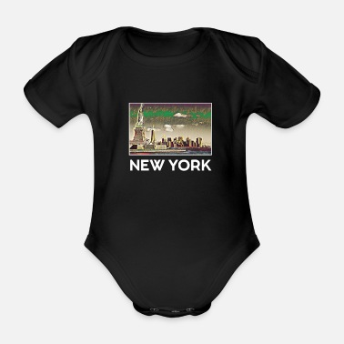 Staat New York Stadt Skyline USA Roadtrip Trip US - Baby Bio-Kurzarm-Body