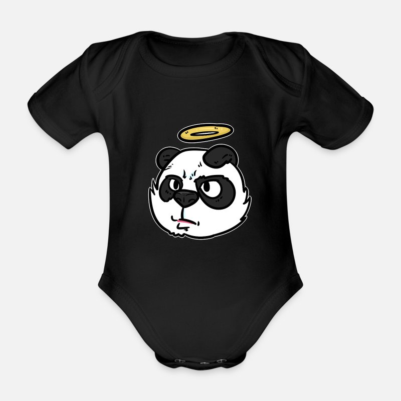 Redeemer Baby Clothes - Angel gift heaven Cheru heaven messenger messenger - Organic Short-Sleeved Baby Bodysuit black