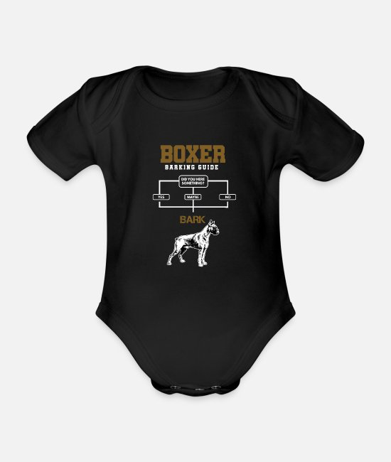 Boxer Baby Clothes - Boxer Guide - Organic Short-Sleeved Baby Bodysuit black
