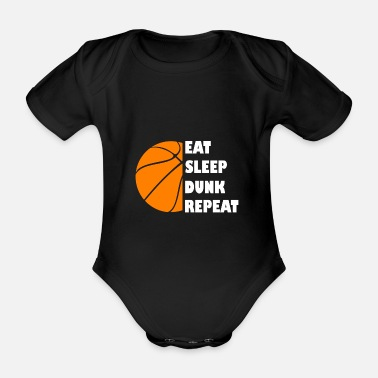 Street Ball Eat Sleep Basketball Ripeti Dunking Street Ball - Body neonato a manica corta