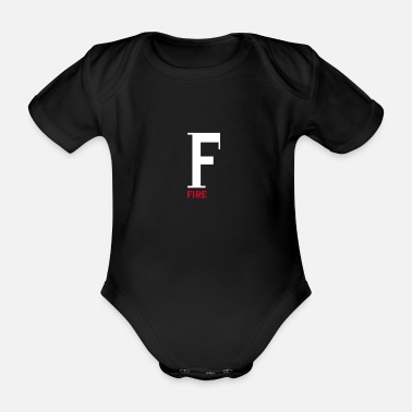 Fire Fire fire - Organic Short-Sleeved Baby Bodysuit