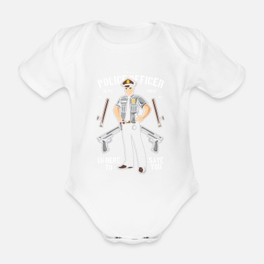 Police Officer Police Officer - Organic Short-Sleeved Baby Bodysuit