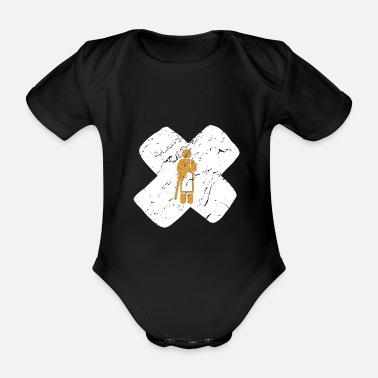 Nepal Monk Buddhism Praying Tibet Cross Gift - Organic Short-Sleeved Baby Bodysuit