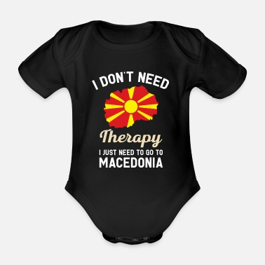 Pirate Flag Macedonia Quote Graphic Bestsellers - Organic Short-Sleeved Baby Bodysuit