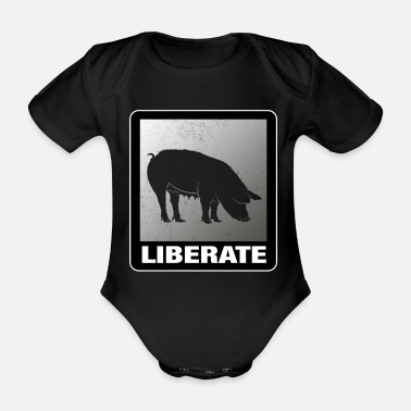 Animal Liberation Liberate Vegan Animal Liberation - Organic Short-Sleeved Baby Bodysuit