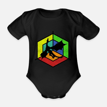 Mythical Beast mythical creatures - Organic Short-Sleeved Baby Bodysuit