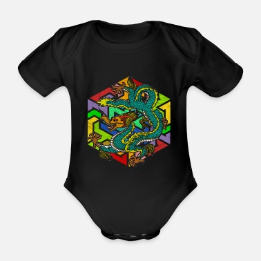 Mythology Mythology Dragon - Organic Short-Sleeved Baby Bodysuit
