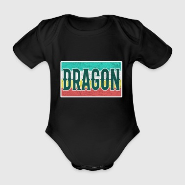 Dragon Dragon Dragon - Organic Short-sleeved Baby Bodysuit
