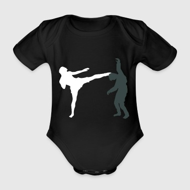 Kickboxing Halloween Zombie Gift Sports Club - Body bébé bio manches courtes
