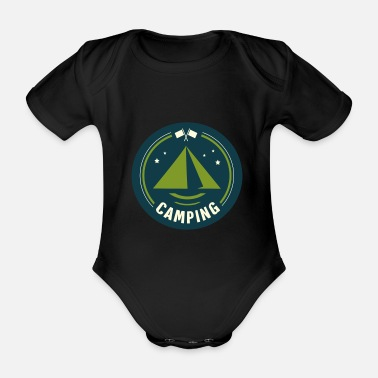 Tent Tent tents campers - Organic Short-Sleeved Baby Bodysuit