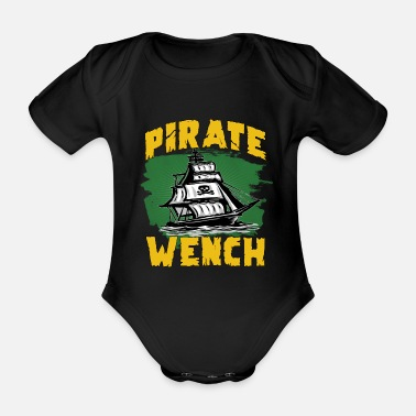 Pirate Flag Pirate flag pirate ship - Organic Short-Sleeved Baby Bodysuit