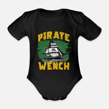 Pirate Flag Pirate ship pirate flag - Organic Short-Sleeved Baby Bodysuit