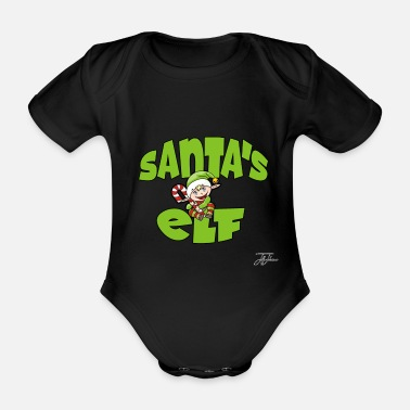 Joy Super Christmas shirt :-) - Organic Short-sleeved Baby Bodysuit