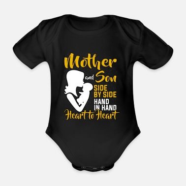 Mammy Mother and Son Mom Mom Mother's Day Mother's Love - Organic Short-Sleeved Baby Bodysuit