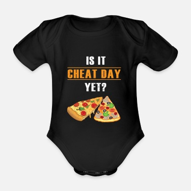 Italien Cheat Day Pizza Fitness Funny Gift - Body bébé bio manches courtes