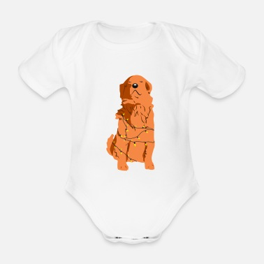 Enlightenment Enlightened dog - Organic Short-Sleeved Baby Bodysuit
